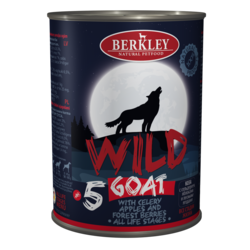 Berkley Wild Беркли Вайлд Коза с сельдереем, яблоками и лесными ягодами для собак всех возрастов №5, 400 гр.