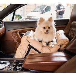 Dog Smith автокресло-переноска для собак, цвет бежевый, размер 40х40 см