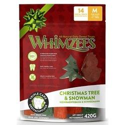 Whimzees Новогодний Микс (елочки/ снеговики) гипоаллергенное лакомство для собак, 420 гр.
