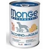 Monge Dog Monoproteino Fruits паштет из индейки с рисом и цитрусовыми 400 г