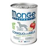 Monge Dog Monoproteino Fruits паштет из кролика с рисом и яблоками 400 г