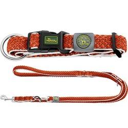 Hunter комплект: ошейник Hilo Vario Plus (45-70 см) + перестежка Hilo (2 м х 2 см), цвет оранжевый