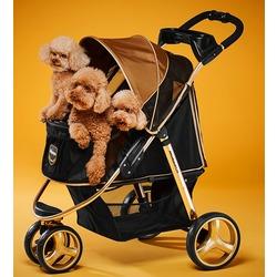 Ibiyaya коляска для собак и кошек до 28 кг, Monarch Premium Pet Jogger – Luxury Gold