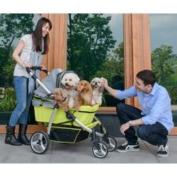 Ibiyaya коляска для собак и кошек до 35 кг, Elegant Retro I – Apple Green