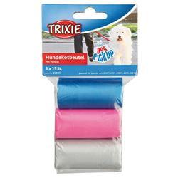 Trixie Пакеты с ручками для уборки за собаками, 3 рулона по 20 шт, цветные, для всех диспенсеров, арт.22845