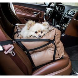 Dog Smith автокресло-переноска для собак, цвет коричневый, размер 40х40 см
