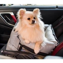 Dog Smith автокресло-переноска для собак, цвет серый, размер 40х40 см