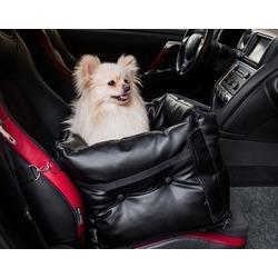 Dog Smith автокресло-переноска для собак, цвет черный, размер 40х40 см