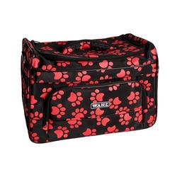 Wahl сумка грумера Paw Print bag черная с красными лапками