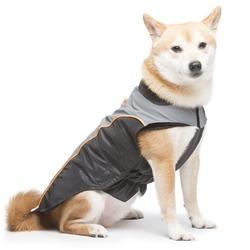 Dog Gone Smart нано плащ дождевик с отстегивающейся флисовой подкладкой, цвет черный с серым и оранжевым Meteor Nanobreaker Jacket