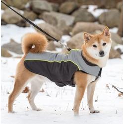 Dog Gone Smart нано плащ дождевик с отстегивающейся флисовой подкладкой, цвет черный с серым и желтым Meteor Nanobreaker Jacket