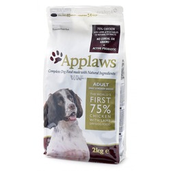 Applaws беззерновой корм для взрослых собак малых и средних пород курица/ягненок