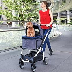 Ibiyaya коляска для животных до 20 кг CLEO Travel System Pet Stroller, 3 в 1: коляска, переноска, автокресло