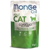 Monge Cat Grill Pouch паучи кусочки в желе из итальянского кролика для взрослых кошек 85г