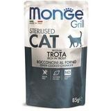 Monge Cat Grill Pouch паучи кусочки в желе с итальянской форелью для стерилизованных кошек 85г
