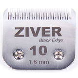 Стригущий нож Ziver 1.6мм black edge для машинок для стрижки, слот А5 - #10, сталь