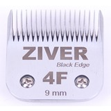 Стригущий нож Ziver 9мм black edge для машинок для стрижки, слот А5 - #4F, сталь