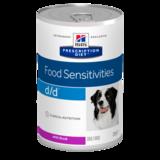 Hill's™ Prescription Diet™ d/d™ диетический консервированный корм для собак при пищевых аллергиях, с уткой, 370 гр.