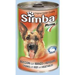 Monge Simba Dog консервы для собак говядина с овощами 1230 г