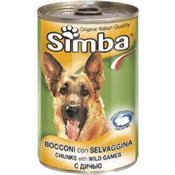 Simba Dog консервы для собак кусочки дичи