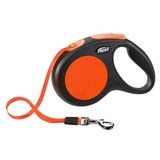 Flexi Limited Edition поводок-рулетка для собак до 25 кг, 5 метров, лента, New Neon M, цвет оранжевый