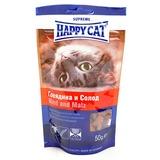"""Happy cat лакомые подушечки """"Говядина и солод"""" 50гр."""
