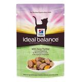 Hill's Ideal Balance Feline Кусочки в соусе для взрослых кошек, с индейкой, 85 гр. х 12 шт.