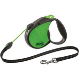 Flexi Limited Edition Neon Reflect M тросовый поводок-рулетка 5 м для собак до 20 кг, цвет зеленый