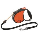 Flexi Limited Edition Neon Reflect M тросовый поводок-рулетка 5 м для собак до 20 кг, цвет оранжевый