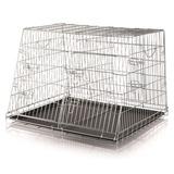 Trixie двойная транспортная клетка для перевозки собак в автомобиле, 93*68*79 см