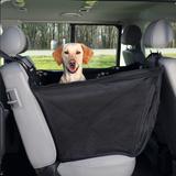 Trixie чехол-гамак на 1/3 сиденья на молнии для перевозки собак в автомобиле, с защитой дверей 145*65 см