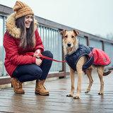 Hunter утепленная куртка для собак Uppsala Cozy, цвет антрацит/красный