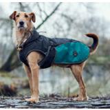 Hunter утепленная куртка для собак Uppsala Cozy, цвет антрацит/бирюзовый