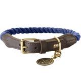 Hunter ошейник для собак List, текстиль+кожа, цвет темно-синий