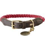 Hunter ошейник для собак List, текстиль+кожа, цвет бордовый