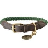 Hunter ошейник для собак List, текстиль+кожа, цвет оливковый
