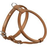 Hunter шлейка для собак Round & Soft Luxus Elk Petit, натуральная кожа лося, кристаллы, цвет коньячный