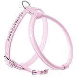 Hunter шлейка для собак Modern Art Round & Soft Petit Luxus, кожзам, кристаллы, цвет светло-розовый
