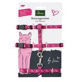 """Hunter набор: шлейка+поводок для собак мелких пород и кошек """"By Laura"""", цвет розовый"""