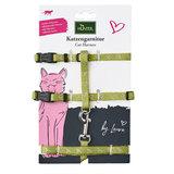 """Hunter набор: шлейка+поводок для собак мелких пород и кошек """"By Laura"""", цвет светло-зеленый"""