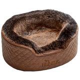 Hunter лежанка для собак Gotland, искусственная кожа, плюш, цвет коричневый