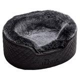 Hunter лежанка для собак Gotland, искусственная кожа, плюш, цвет черный