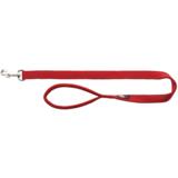 Trixie Поводок с мягкой ручкой для собак Premium, нейлон, цвет красный