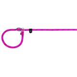 Trixie круглый поводок-полуудавка Sporty Rope, нейлон, цвет фуксия