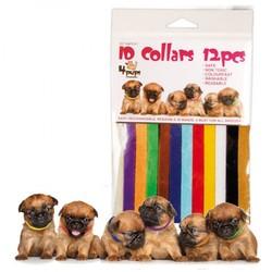 Набор ошейников для щенков 4Pups ID Collars, 12 штук