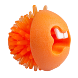Rogz игрушка Fred с отверстиями для лакомств и массажными насечками, средняя, оранжевая, FRED TREAT BALL