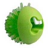 Rogz игрушка Fred с отверстиями для лакомств и массажными насечками, средняя, лайм, FRED TREAT BALL