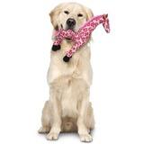 """Mighty супер прочная игрушка для собак """"Сафари"""" Жираф, 38 см, розовый, прочность 8/10, Safari Giraffe Pink"""