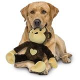 "Mighty супер прочная игрушка для собак ""Сафари"" Обезьяна, 35 см, цвет коричневый, прочность 7/10, Safari Monkey Brown"