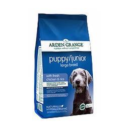 Arden Grange для щенков и юниоров крупных пород с курицей и рисом Puppy/Junior large breed chicken